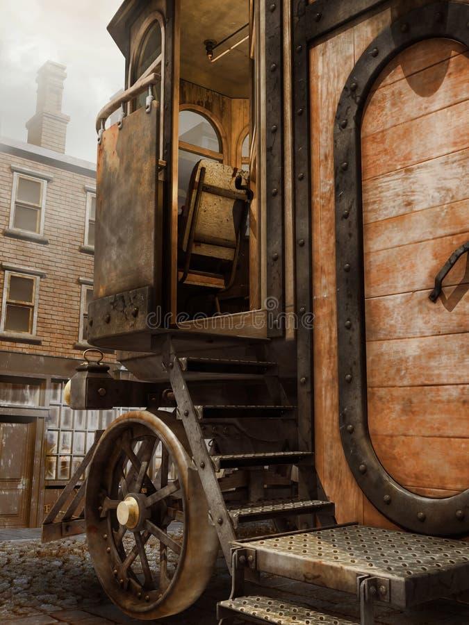 Entrada a uma casa do vapor ilustração do vetor