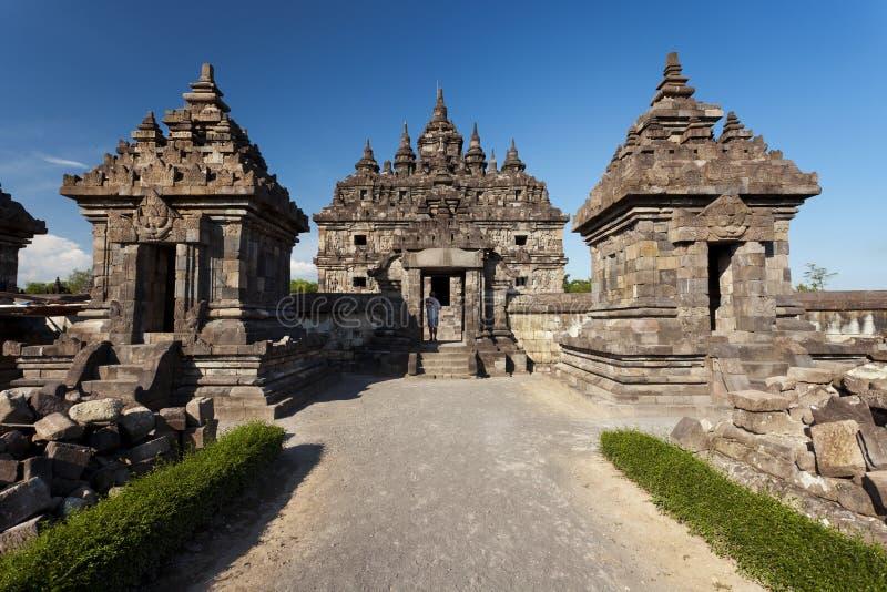 Entrada a uno de los templos en Candi Plaosan fotos de archivo libres de regalías