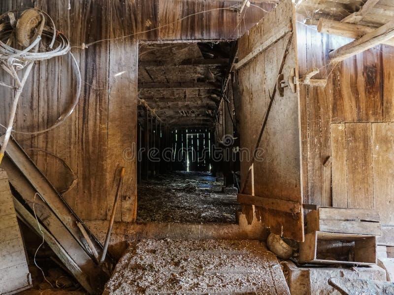 Entrada velha do rancho fotografia de stock