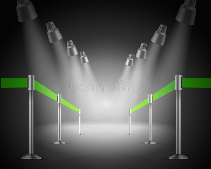 A entrada verde brilhada da maneira ilustração royalty free