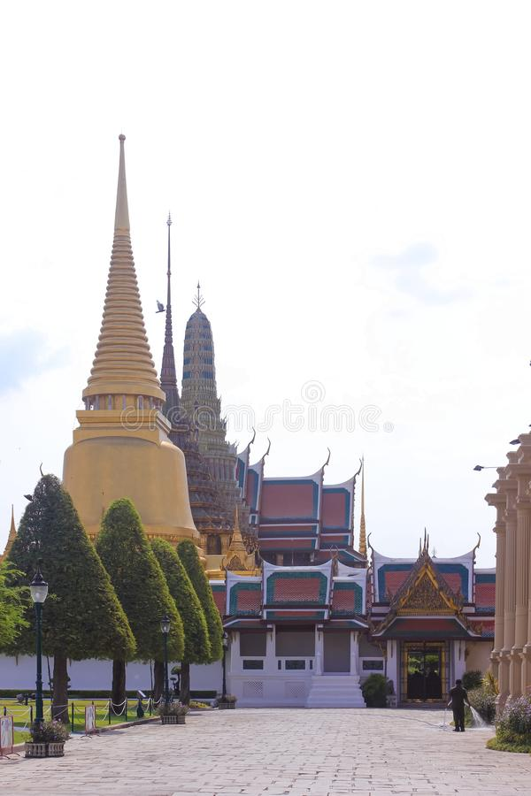 Entrada a Wat Phra Kaew, templo de Emerald Buddha imagens de stock royalty free