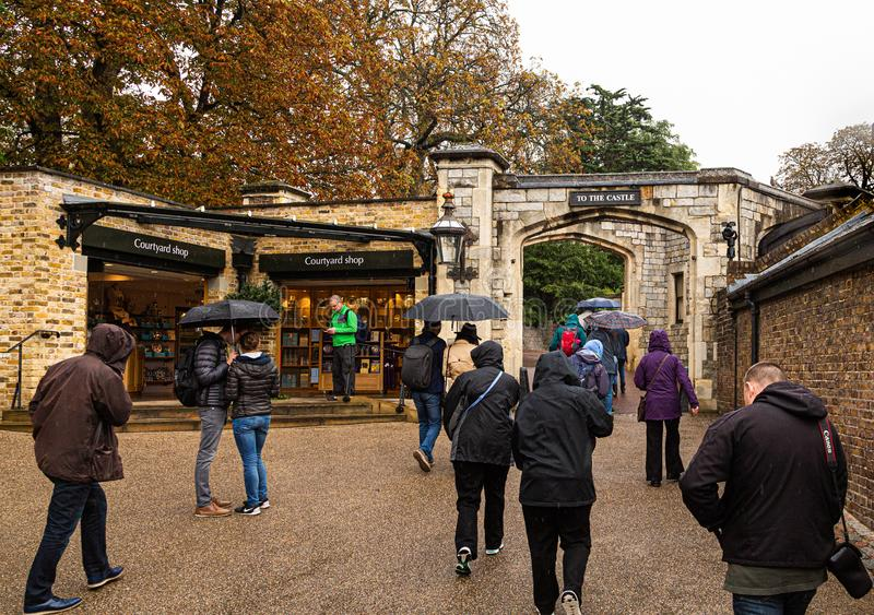 Entrada a Windsor Castle fotografia de stock