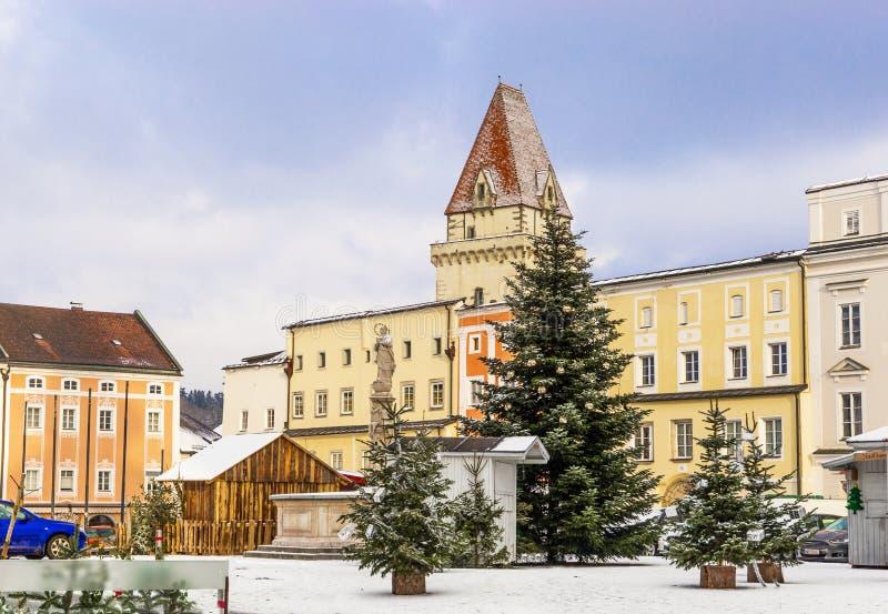 Entral τετράγωνο Ð ¡ σε Freistadt - την Άνω Αυστρία στοκ εικόνες