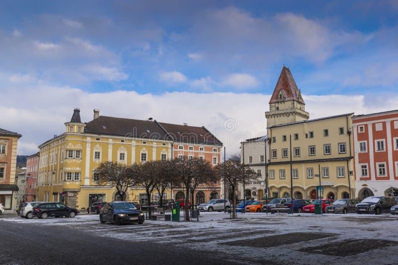 Entral τετράγωνο Ð ¡ σε Freistadt - την Άνω Αυστρία στοκ εικόνα