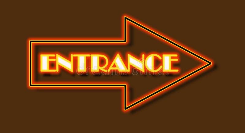 Entrance stock illustration
