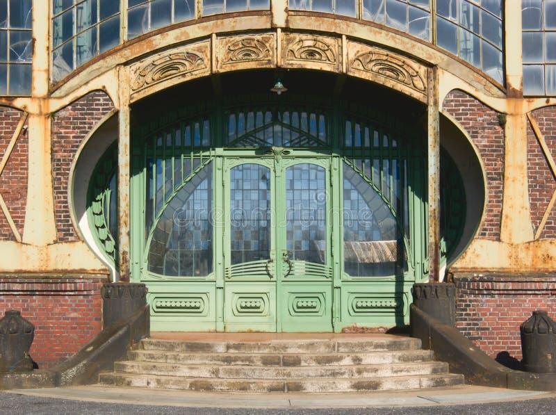 Entrance. Of an Art Nouveau Machine Shop of a Coal Mine Zeche Zollern, Dortmund, Germany stock images