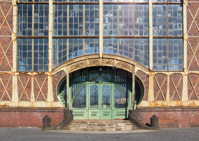 Entrance. Of an Art Nouveau Machine Shop of a Coal Mine Zeche Zollern, Dortmund, Germany royalty free stock image