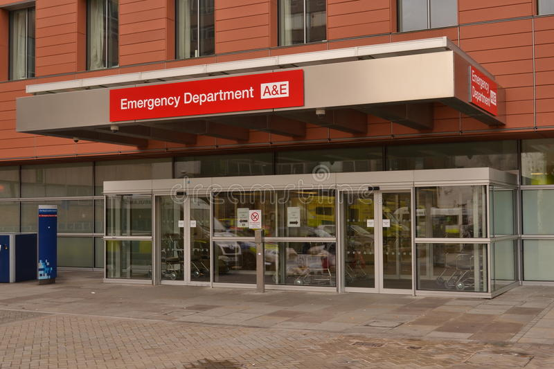 Entrance Accident & Emergency Department Royal London Hospital. Entrance to Accident & Emergency department in Royal London Hospital in Whitechapel, East London stock photography