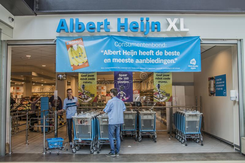 Entrance Of The AH XL Supermarket At Diemen The Netherlands royalty free stock image