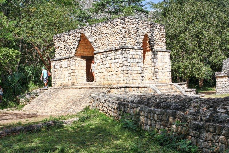 Entrance arch(Arco de entrada) to Ek Balam Mayan Ruins royalty free stock photos