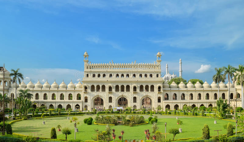 Entrance of Bara Imambara. Bara Imambara is an imambara complex in Lucknow, India, built by Asaf-ud-Daula, Nawab of Awadh, in 1784. It is also called the Asafi stock photo
