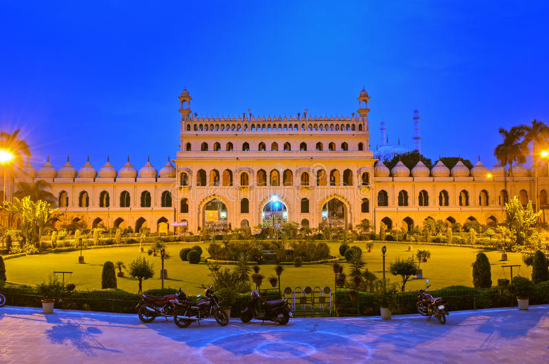 Entrance of Bara Imambara. Bara Imambara is an imambara complex in Lucknow, India, built by Asaf-ud-Daula, Nawab of Awadh, in 1784. It is also called the Asafi stock image