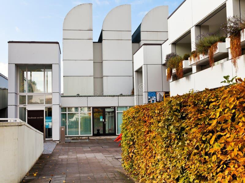 Bauhaus Charlottenburg entrance of bauhaus archive building in berlin editorial photo