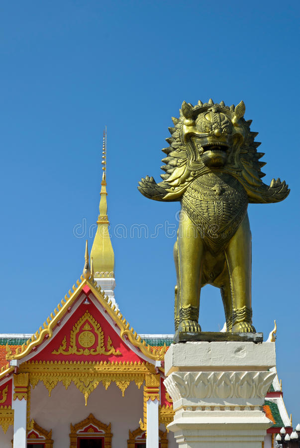 Entrance of the Buddhist temple in Thailand royalty free stock photos