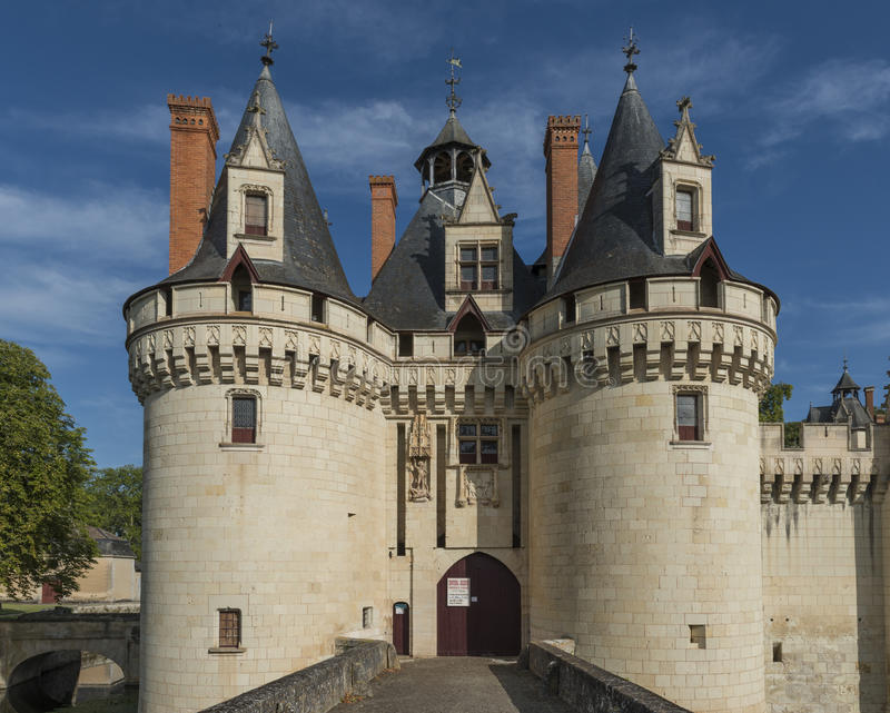 Entrance Castle Chateau Dissay France stock photo