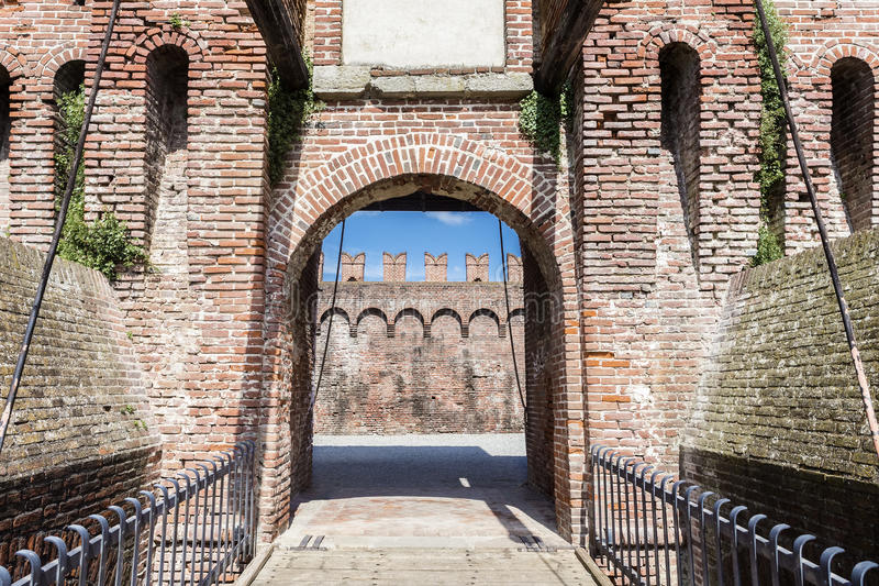 Entrance of a castle royalty free stock image