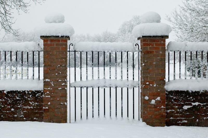 Entrance closed stock photo