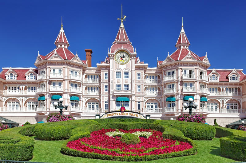 Entrance in Disneyland Paris royalty free stock image