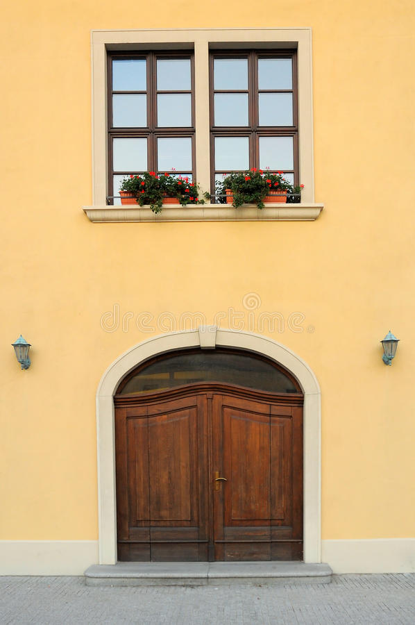 Download Entrance door stock image. Image of wall, exterior, traditional - 10884531