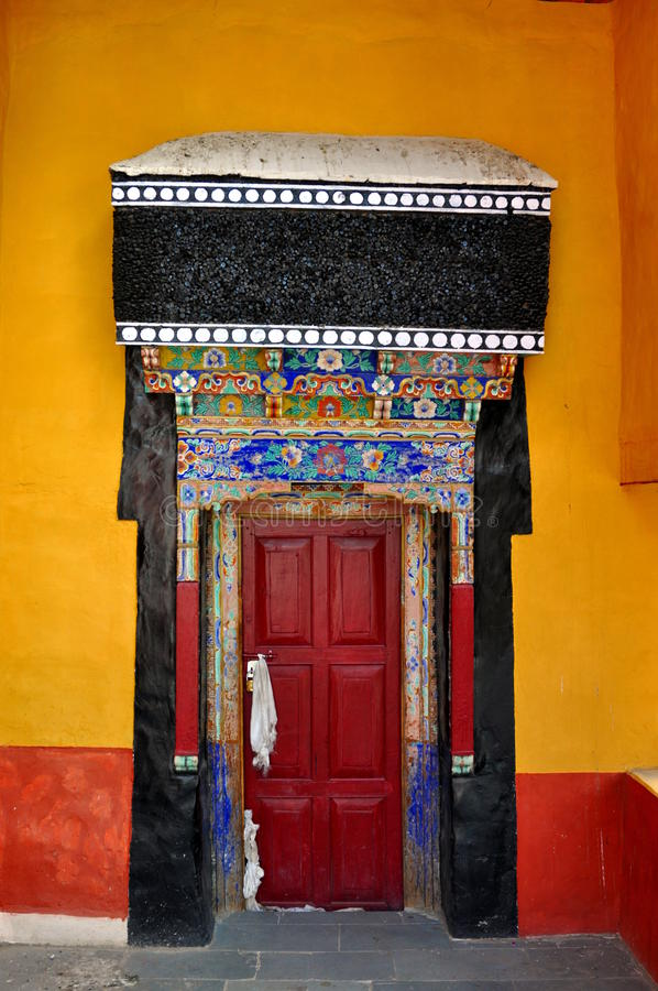 Download Entrance Door Of A Buddhist Temple Stock Photo - Image of buddhism, ancient: 26827960