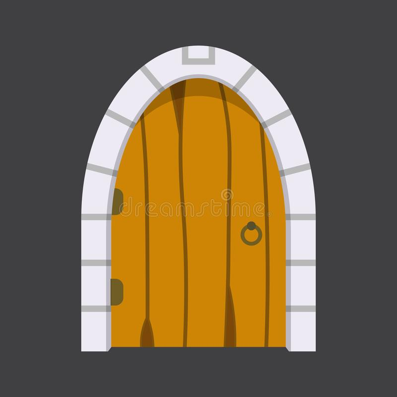 Entrance Door Front View Homes And Buildings Vector Element In