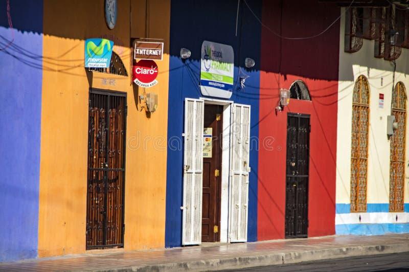 Entrance Door in Granada, Nicaragua royalty free stock photo