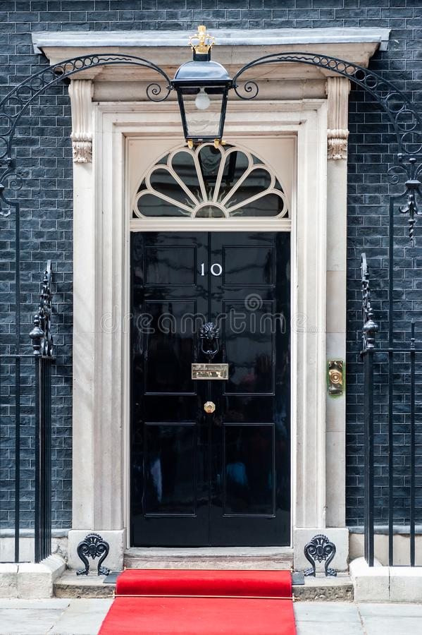 Free Entrance Door Of 10 Downing Street In London, UK Royalty Free Stock Photos - 128428608