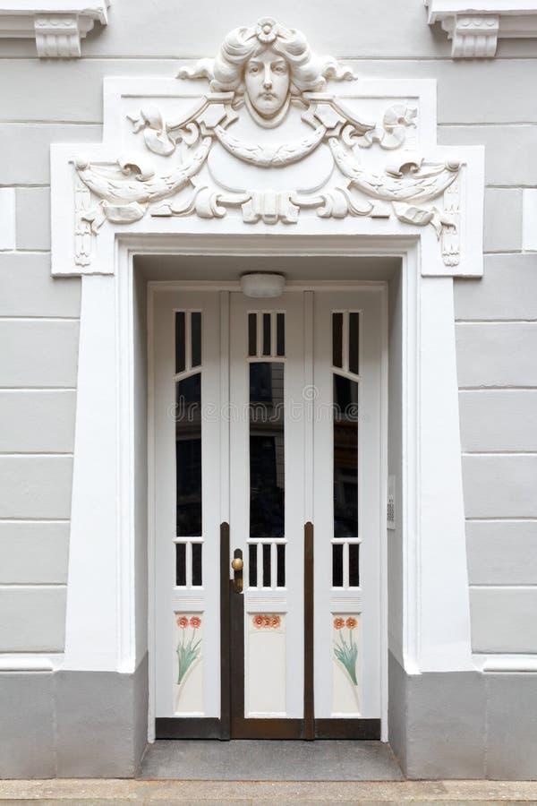 Download Entrance Door Stucco Art Nouveau Stock Photo - Image of gray ornament 56856164  sc 1 st  Dreamstime.com & Entrance Door Stucco Art Nouveau Stock Photo - Image of gray ...