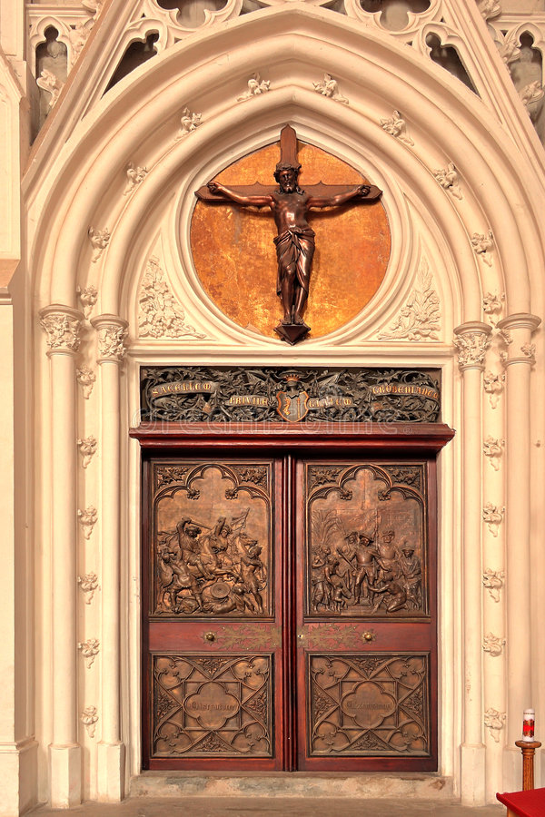 Entrance Door To A Church Royalty Free Stock Images