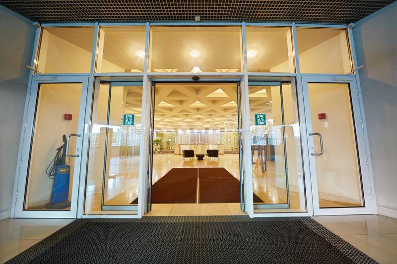 Entrance door to reception hall royalty free stock images
