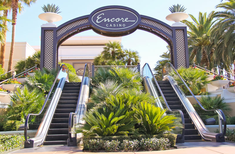 Entrance in Encore hotel and casino in Las Vegas, Nevada. stock images