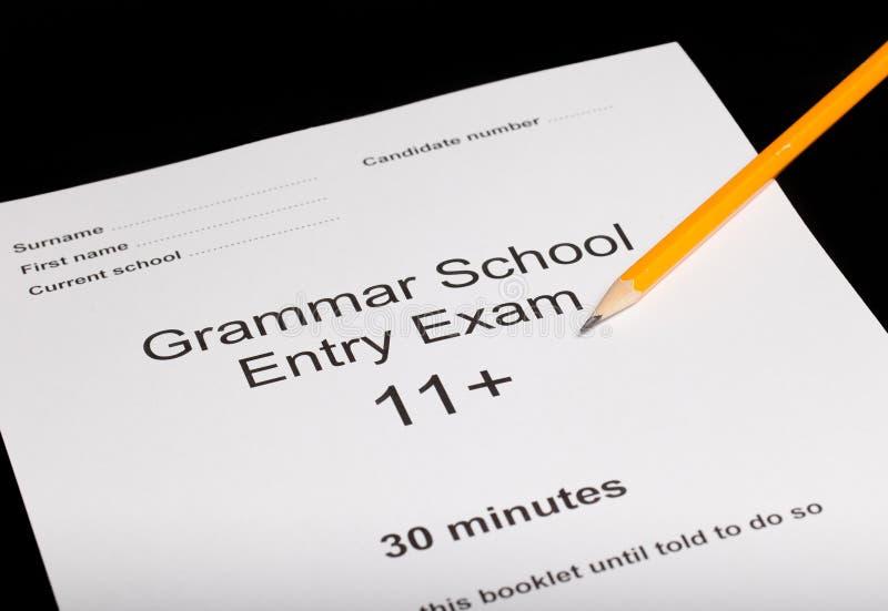 Entrance exam paper stock photos