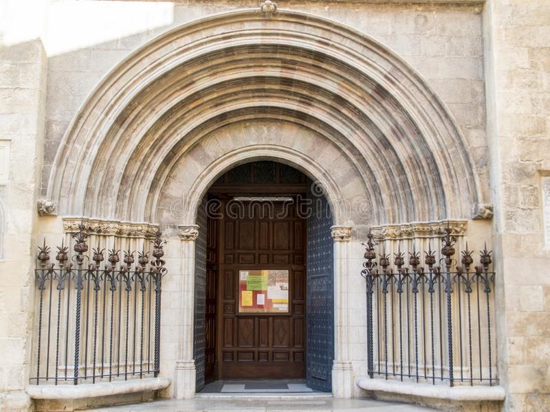 Entrance to a cathedral royalty free stock photos