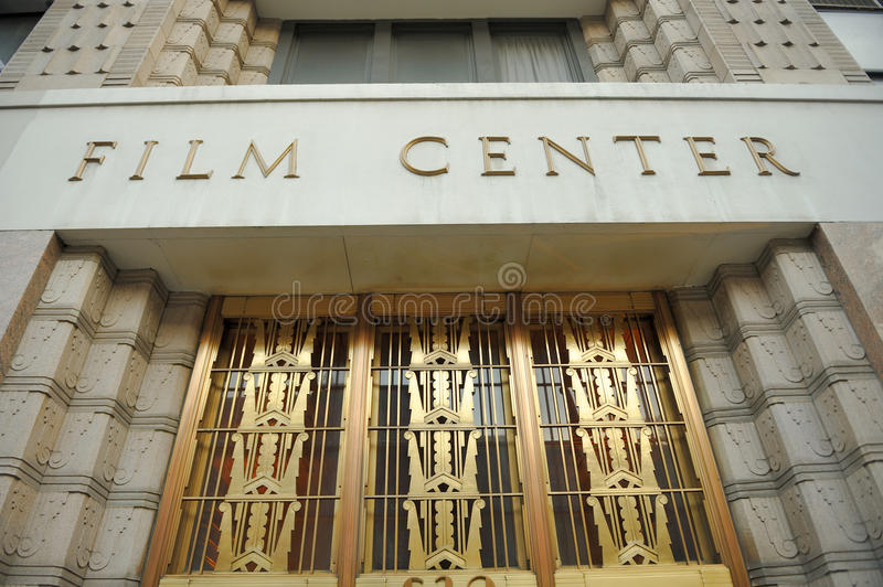 Entrance of the Film Center Building. The Film Center Building,at 630 Ninth Avenue between 44th and 45th Street in NY, is a 13-story office building catering to stock photos