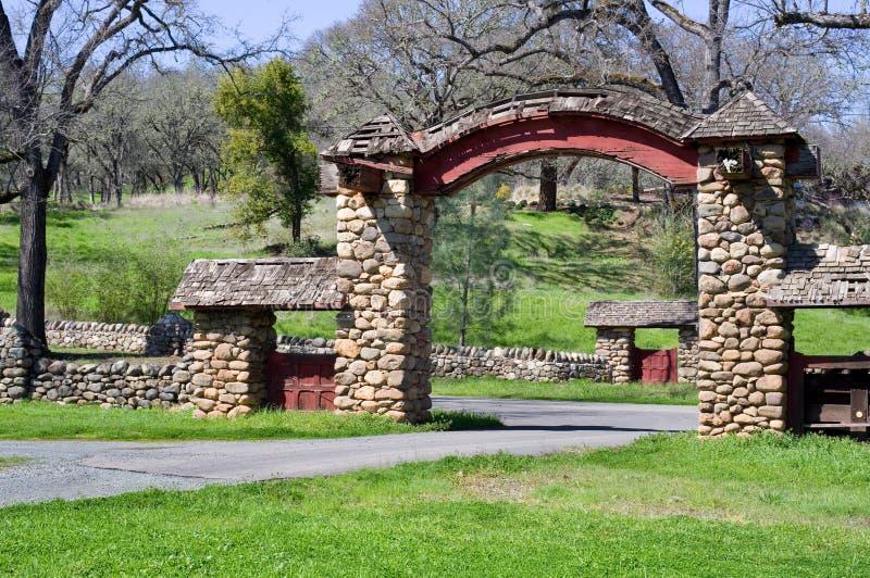 Entrance gate at Aetna Springs California