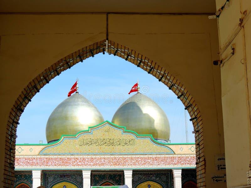 Entrance gate of Holy Shrine of Husayn Ibn Ali, Karbala, Iraq. The Imam Husain Shrine or the Station of Imam Husayn Ibn Ali is the mosque and burial site of royalty free stock photos
