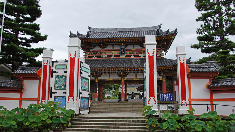 Entrance gate of Kosanji Temple in Japan stock photo