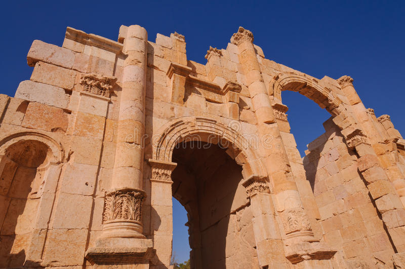 Download Entrance Gate To Ancient City Of Jerash Stock Photo - Image: 18068320