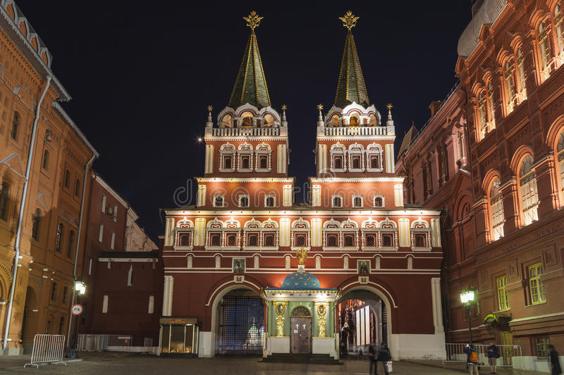 Entrance gates to red square royalty free stock photo