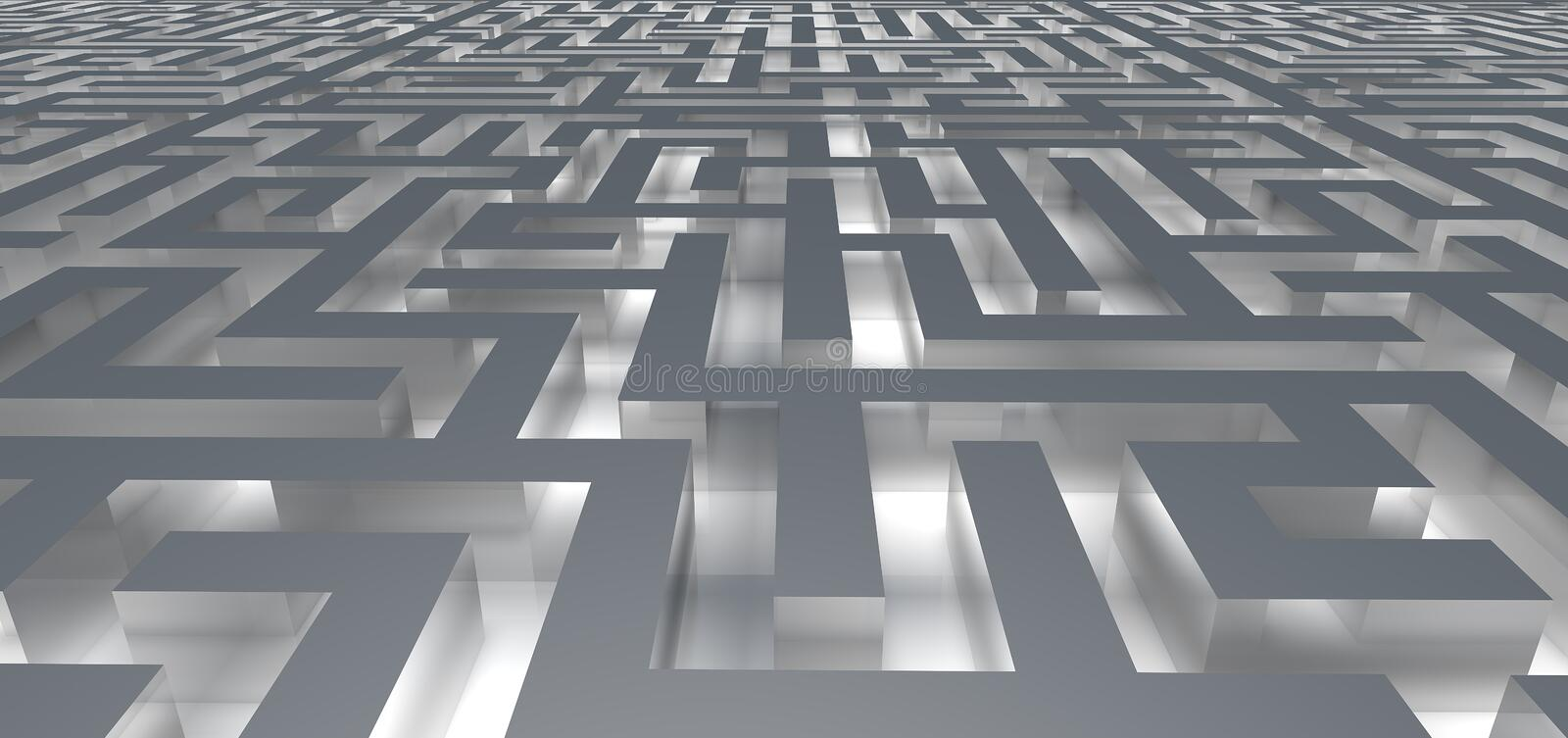 Entrance into the glow maze vector illustration