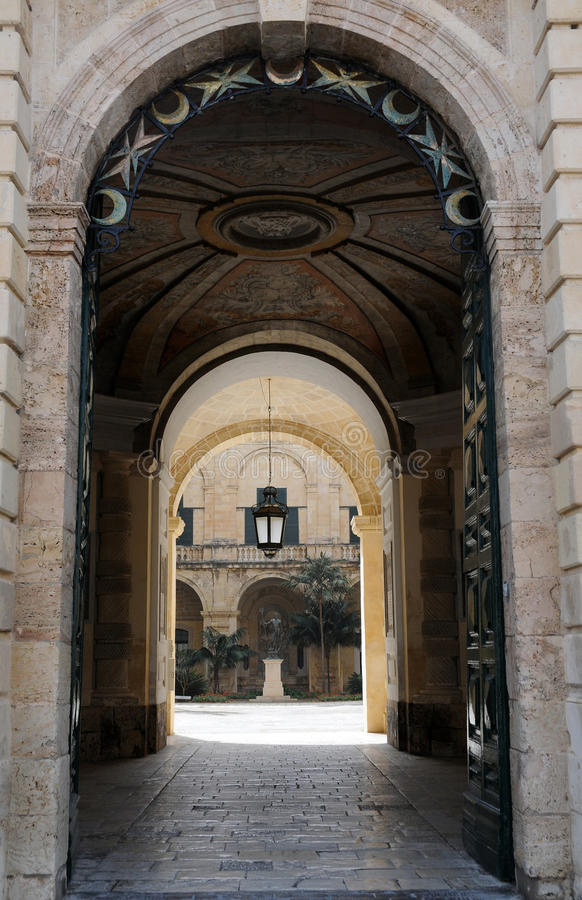 Entrance of Grand Masters Palace. Entrance of the Grand Masters Palace in Valletta. The Magisterial Palace was built in 16th century and today it will be used by royalty free stock image