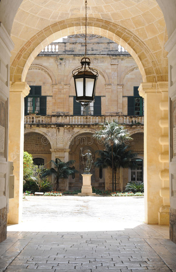 Entrance of Grand Masters Palace. Grand Masters Palace in Valletta. The Magisterial Palace was built in 16th century and today it will be used by representative royalty free stock images