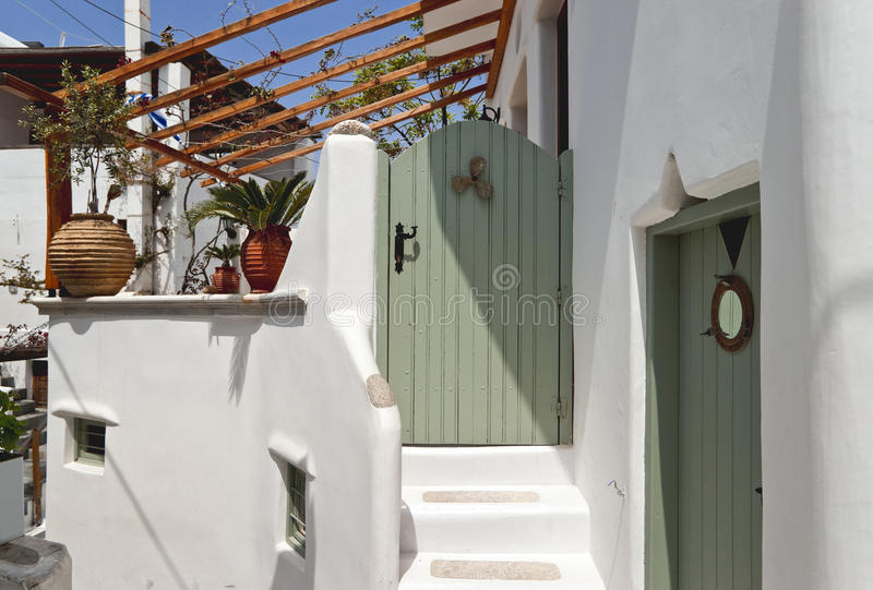 Download Entrance with green door stock photo. Image of steps - 24648968