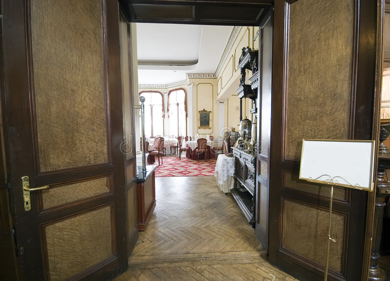 Download Entrance Hall Into Dining Room Stock Image   Image Of Design,  Dark: 4275095