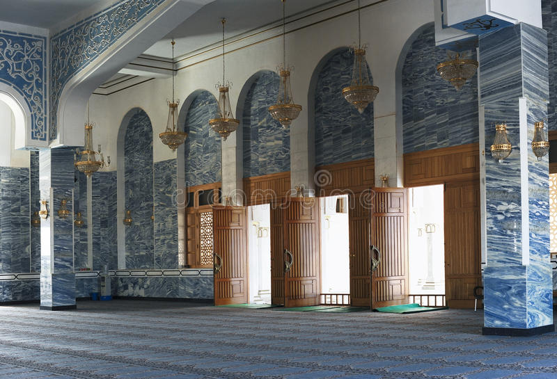 The Entrance Hall of a Mosque, Sharm el Sheikh stock images