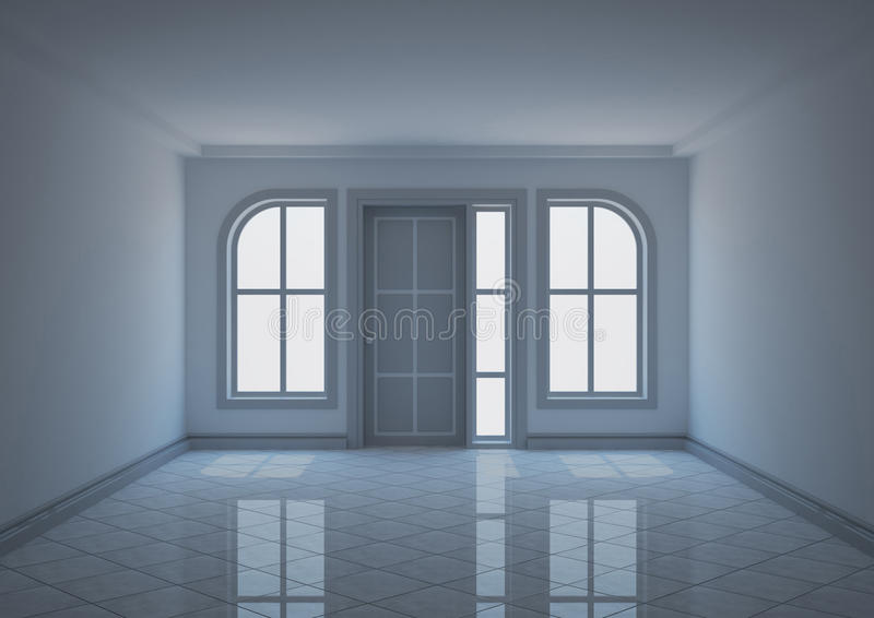 Download Entrance Hall With Semi-arched Windows Stock Illustration - Illustration of apartment, architecture: 20244365