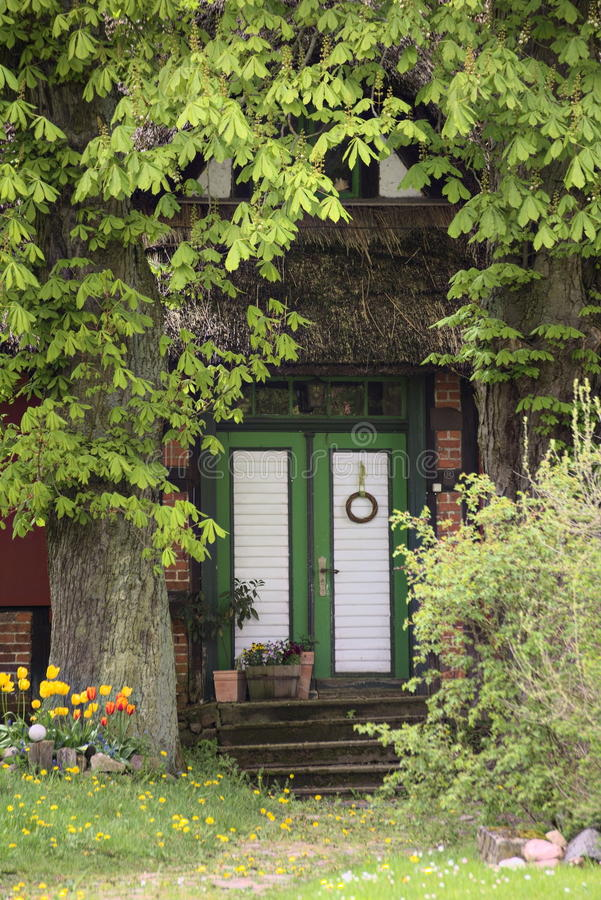 Download Entrance Of A Historic House Listed As Monument In Hohendorf Stock Photo - Image of clinker, green: 93336450