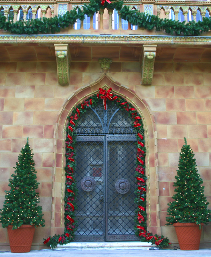 Download Entrance in Holiday Colors stock image. Image of decorations - 51239