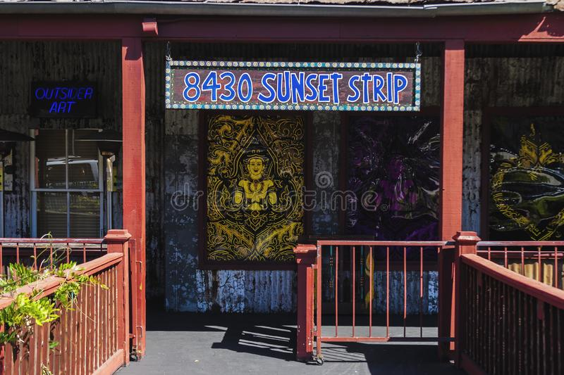 Entrance of the House of Blues, Los Angeles royalty free stock images