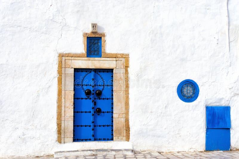 Entrance of House in the Medina of Sidi Bou Said, Tunisia royalty free stock photos